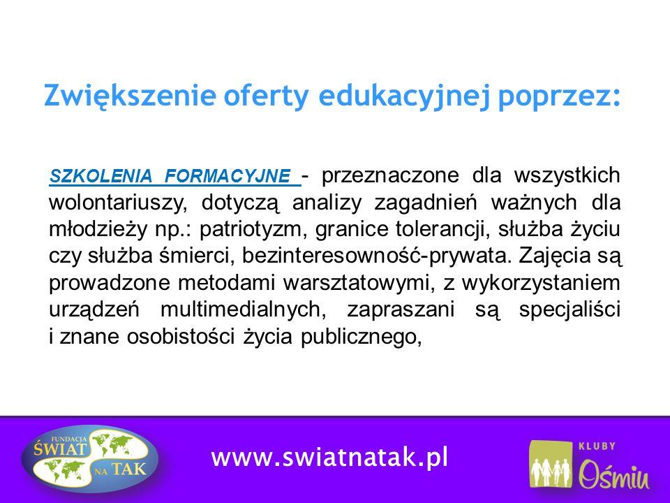 Zwiększenie oferty edukacyjnej poprzez: