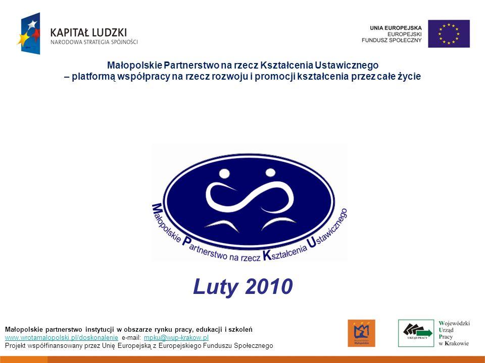 Małopolskie Partnerstwo na rzecz Kształcenia Ustawicznego – platformą współpracy na rzecz rozwoju i promocji kształcenia przez całe życie