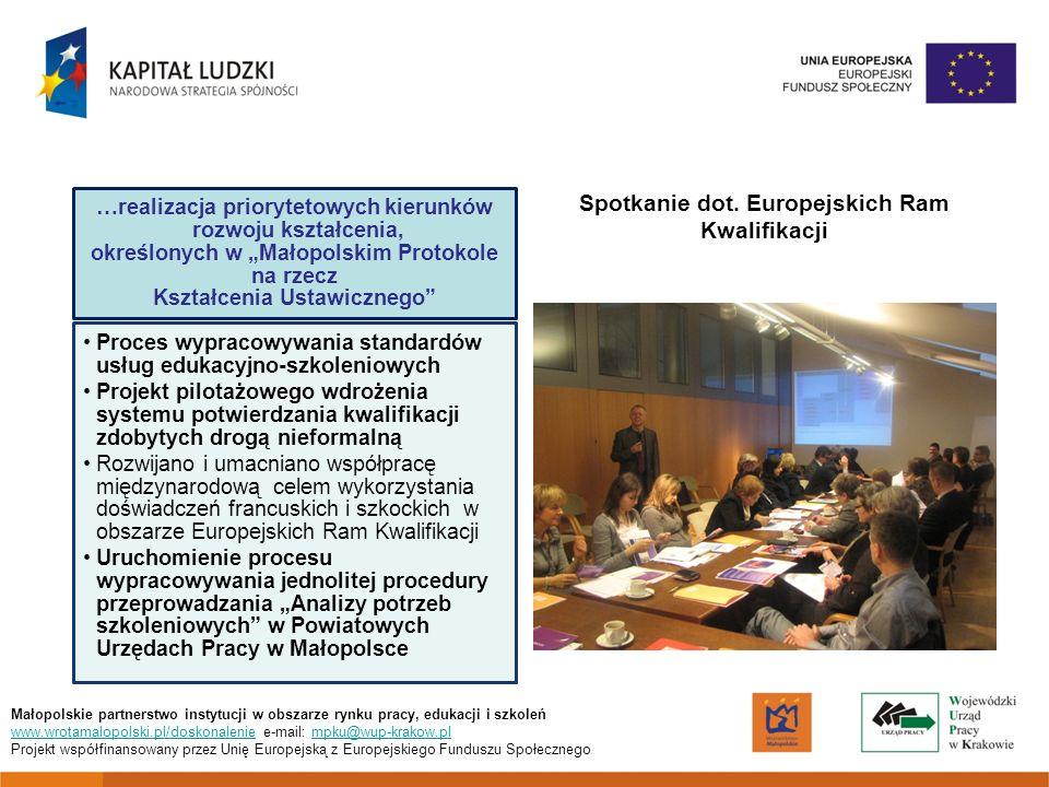 Spotkanie dot. Europejskich Ram Kwalifikacji