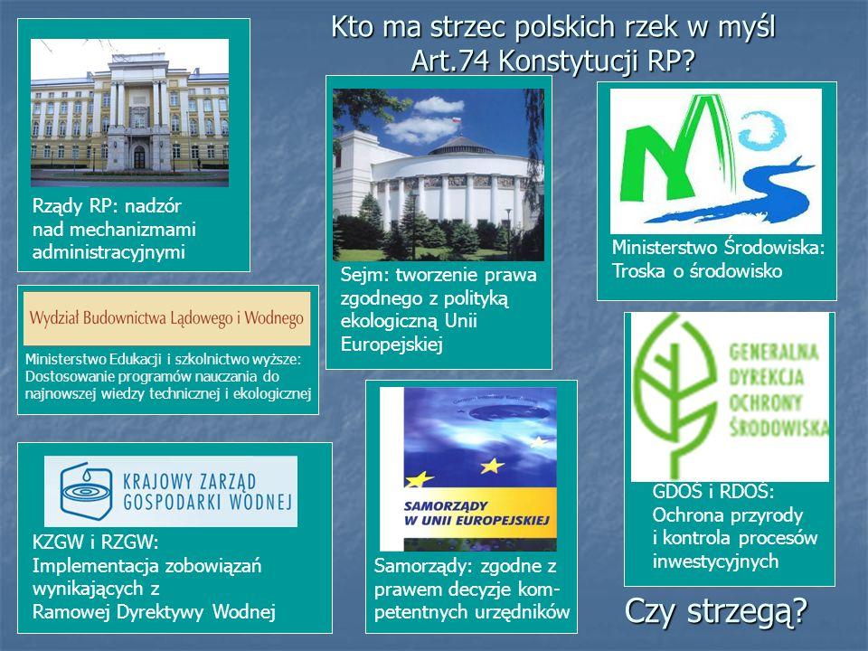 Kto ma strzec polskich rzek w myśl Art.74 Konstytucji RP