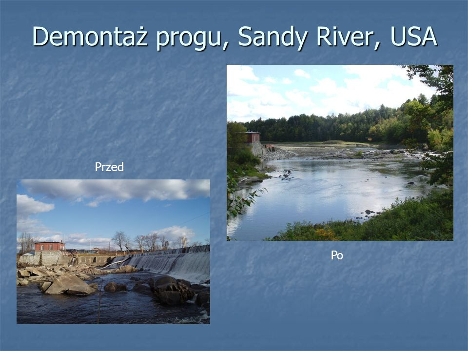 Demontaż progu, Sandy River, USA