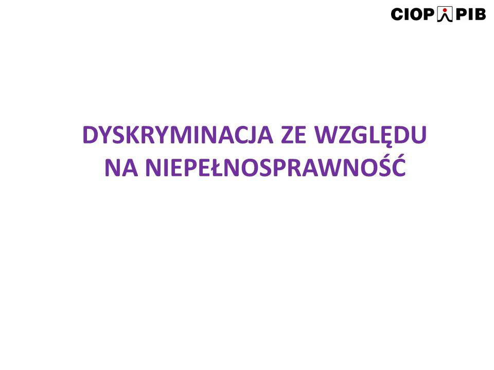 Dyskryminacja ze względu na niepełnosprawność