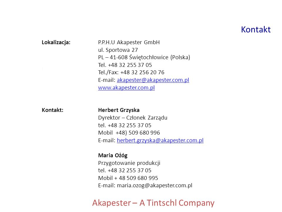Akapester – A Tintschl Company