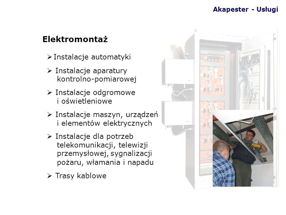 Instalacje automatyki Instalacje aparatury kontrolno-pomiarowej