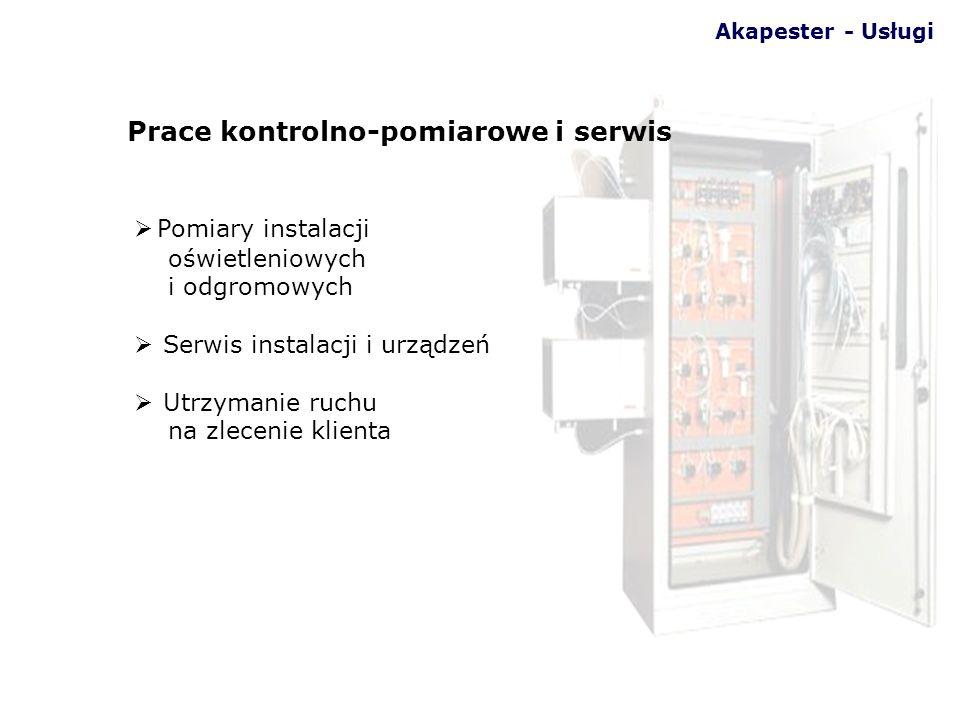 Prace kontrolno-pomiarowe i serwis