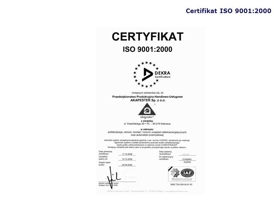 Certifikat ISO 9001:2000