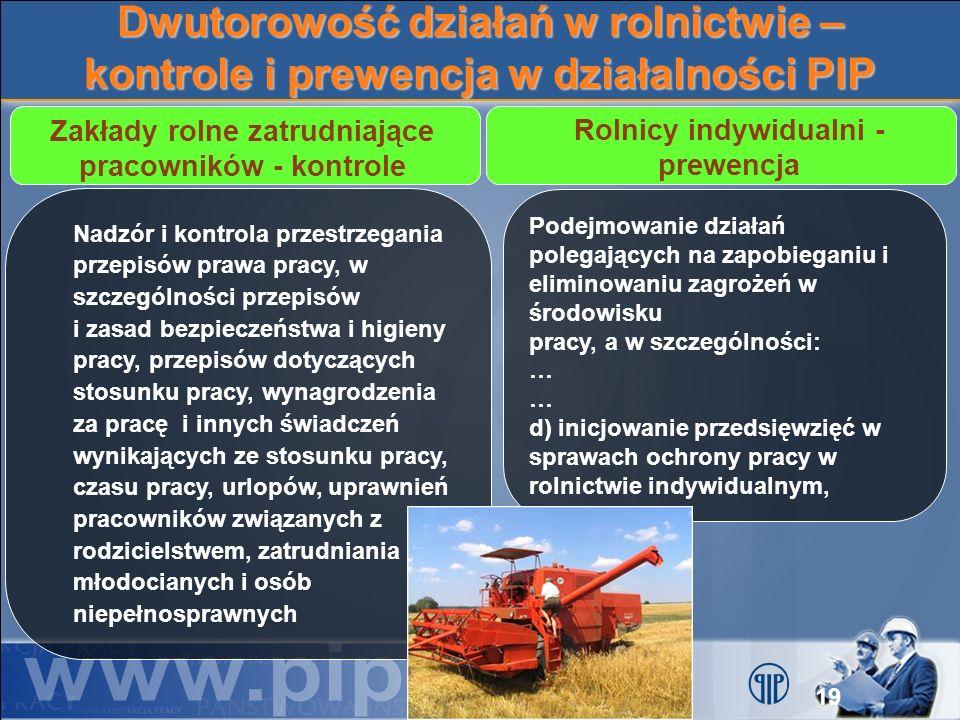 Dwutorowość działań w rolnictwie – kontrole i prewencja w działalności PIP