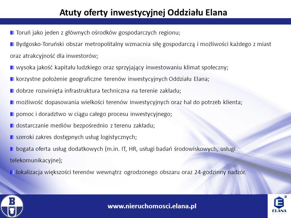 Atuty oferty inwestycyjnej Oddziału Elana