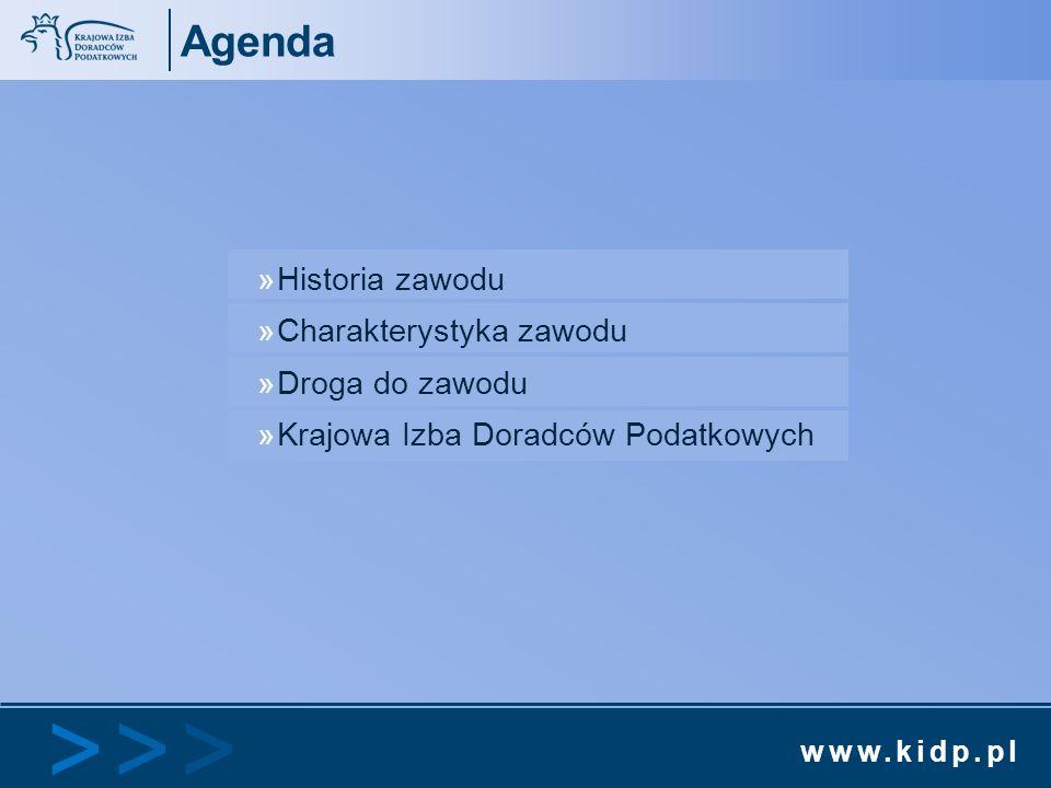 Agenda Historia zawodu Charakterystyka zawodu Droga do zawodu