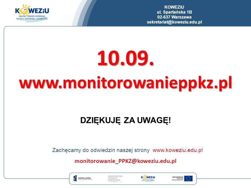 10.09. www.monitorowanieppkz.pl