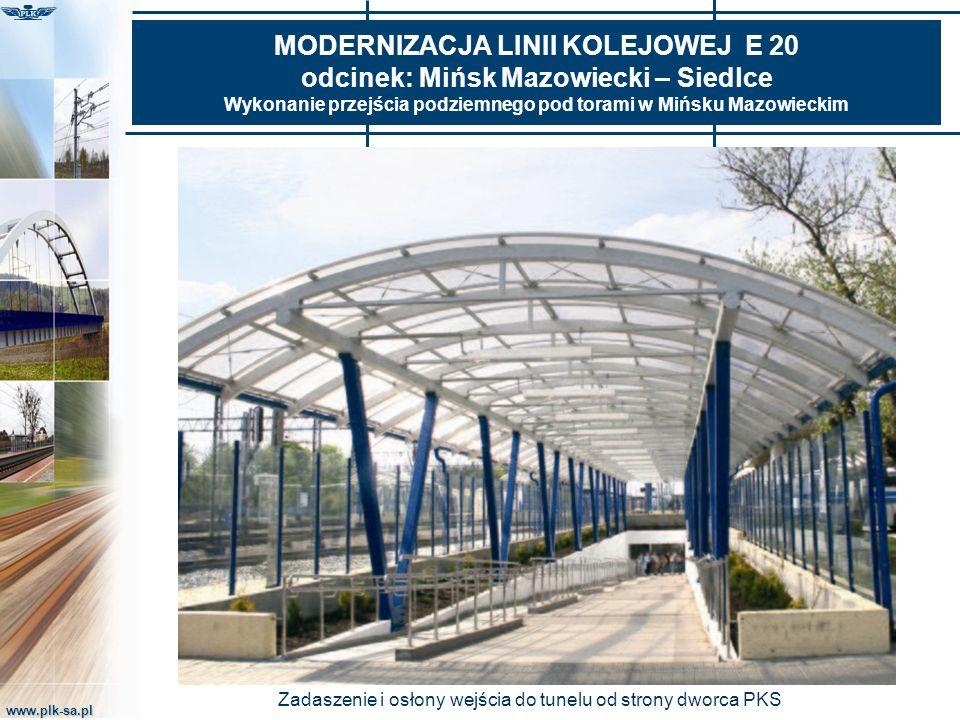MODERNIZACJA LINII KOLEJOWEJ E 20 odcinek: Mińsk Mazowiecki – Siedlce Wykonanie przejścia podziemnego pod torami w Mińsku Mazowieckim