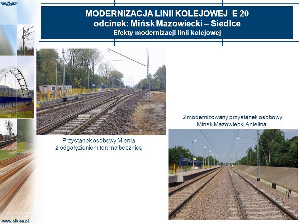 MODERNIZACJA LINII KOLEJOWEJ E 20 odcinek: Mińsk Mazowiecki – Siedlce Efekty modernizacji linii kolejowej