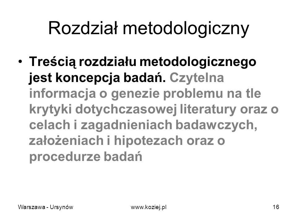 Rozdział metodologiczny