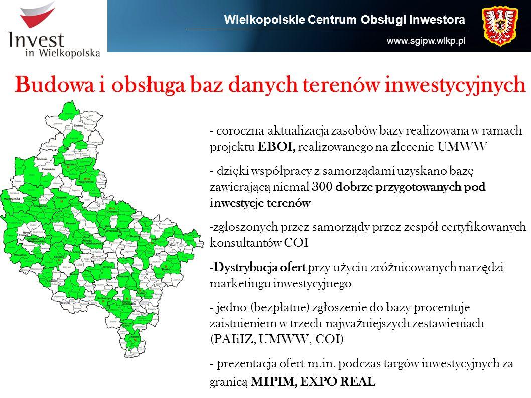 Budowa i obsługa baz danych terenów inwestycyjnych