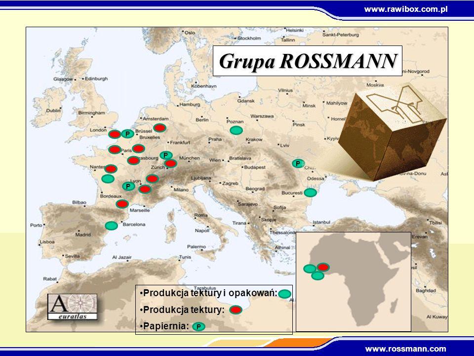Grupa ROSSMANN Produkcja tektury i opakowań: Produkcja tektury: