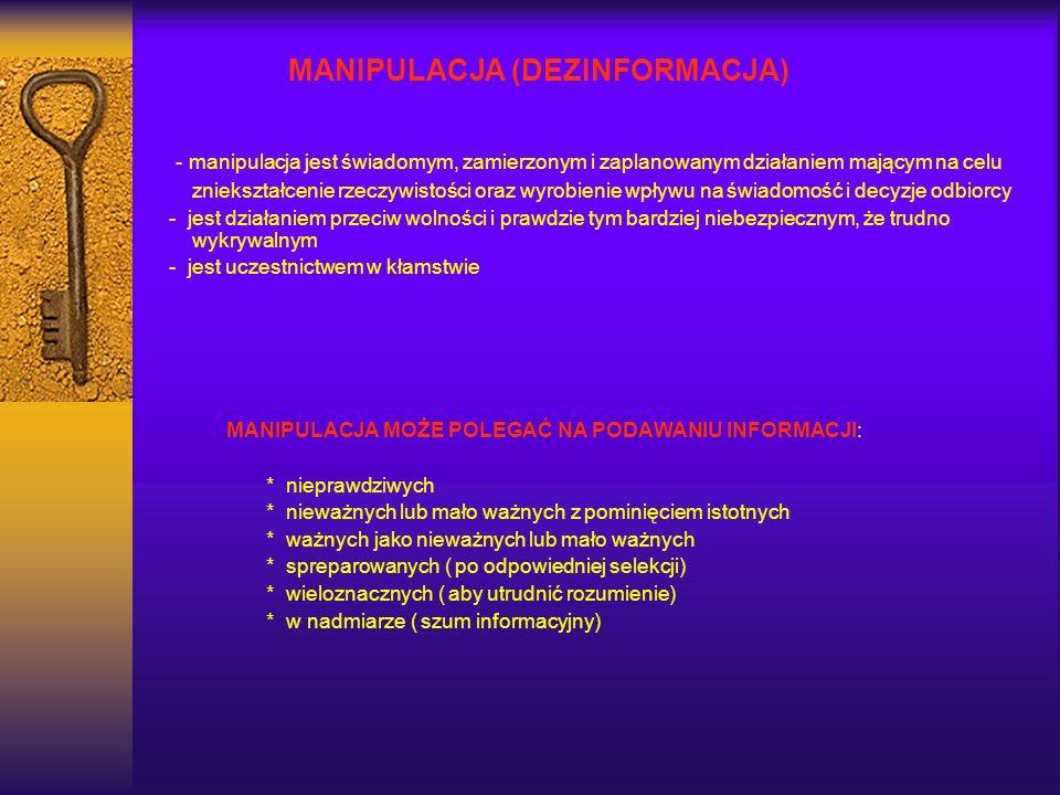 MANIPULACJA (DEZINFORMACJA)