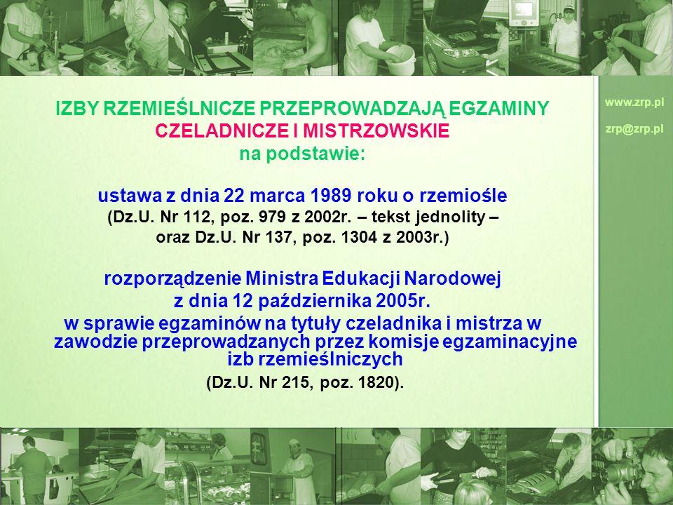 ustawa z dnia 22 marca 1989 roku o rzemiośle