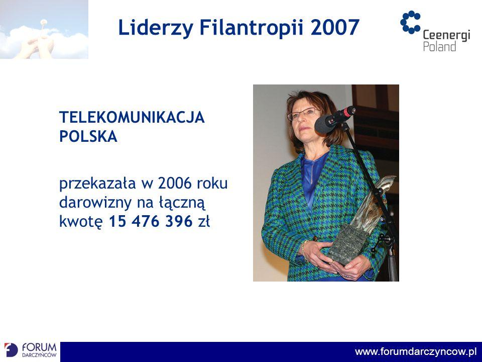Liderzy Filantropii 2007 TELEKOMUNIKACJA POLSKA