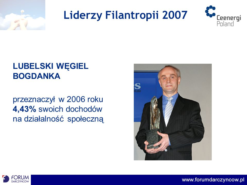 Liderzy Filantropii 2007 LUBELSKI WĘGIEL BOGDANKA
