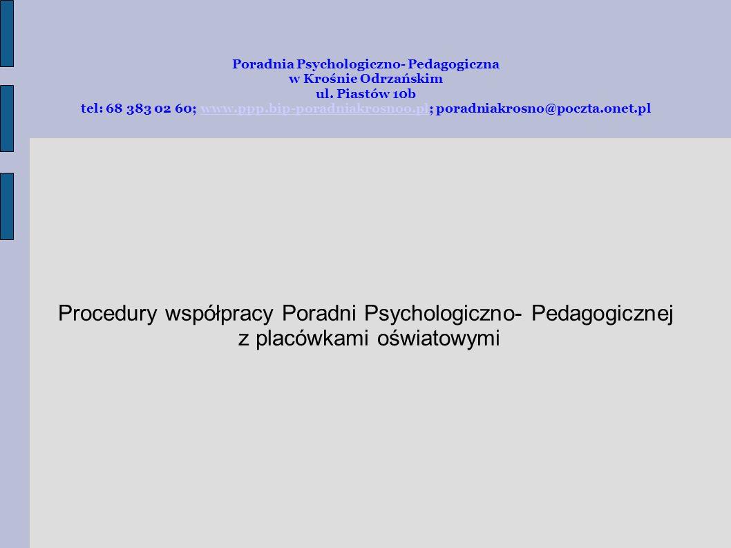 Poradnia Psychologiczno- Pedagogiczna w Krośnie Odrzańskim ul
