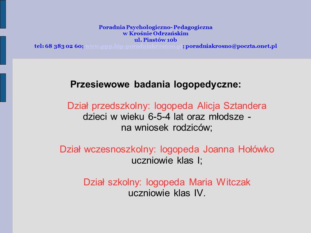 Przesiewowe badania logopedyczne: