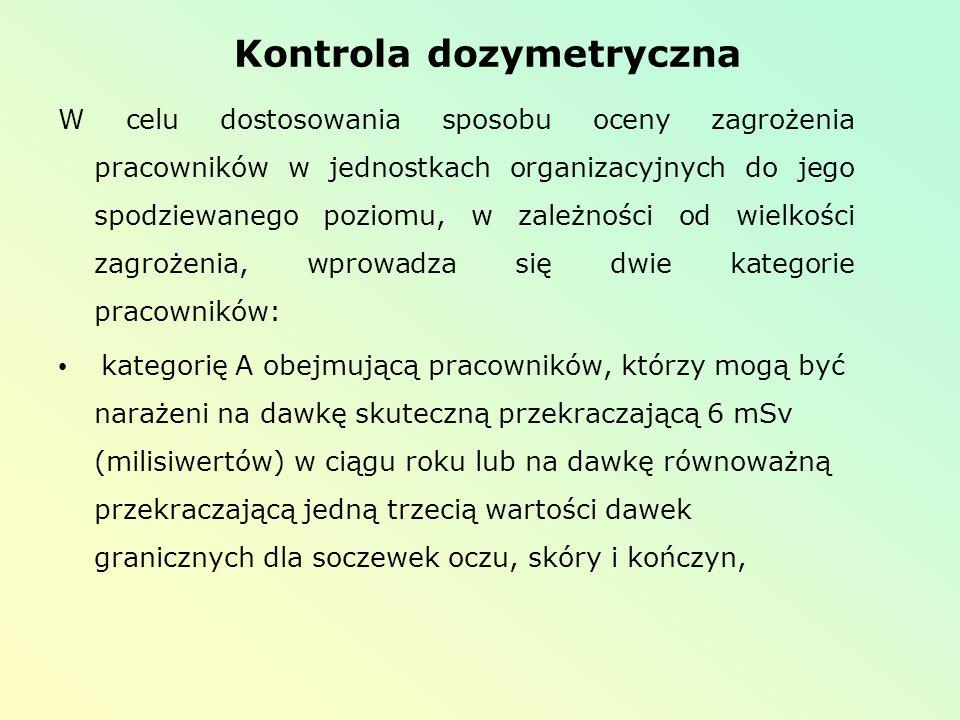 Kontrola dozymetryczna