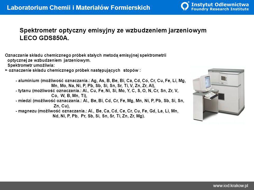 Wyniki Laboratorium Chemii i Materiałów Formierskich