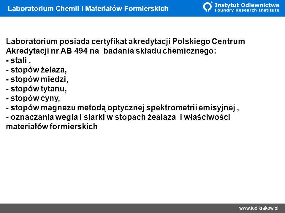 Laboratorium Chemii i Materiałów Formierskich