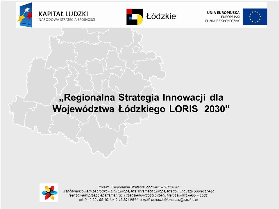 """""""Regionalna Strategia Innowacji dla Województwa Łódzkiego LORIS 2030"""