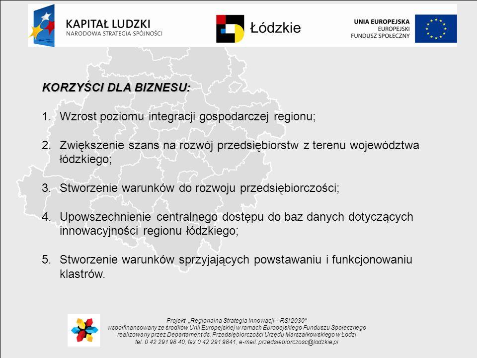 "Projekt ""Regionalna Strategia Innowacji – RSI 2030"