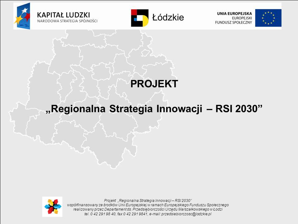 """""""Regionalna Strategia Innowacji – RSI 2030"""