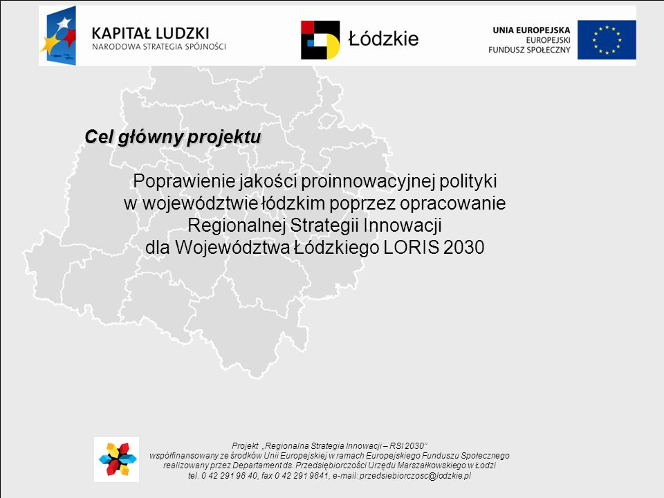 dla Województwa Łódzkiego LORIS 2030