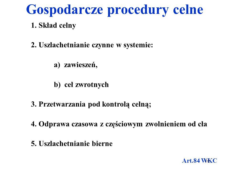 Gospodarcze procedury celne