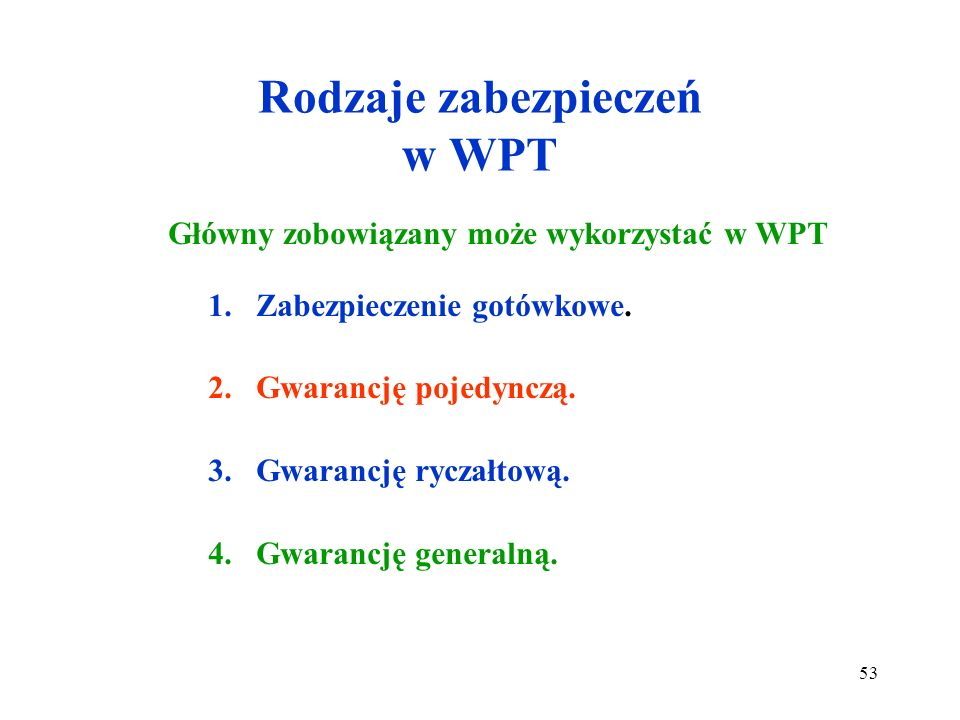 Rodzaje zabezpieczeń w WPT