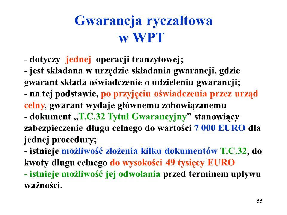 Gwarancja ryczałtowa w WPT