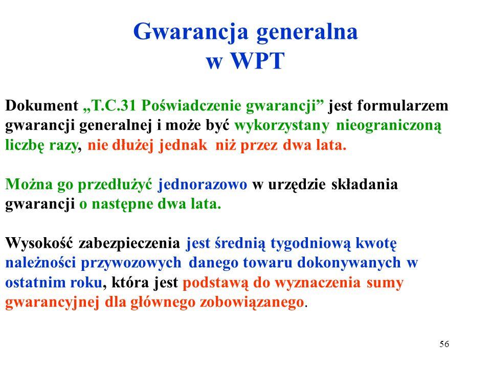 Gwarancja generalna w WPT