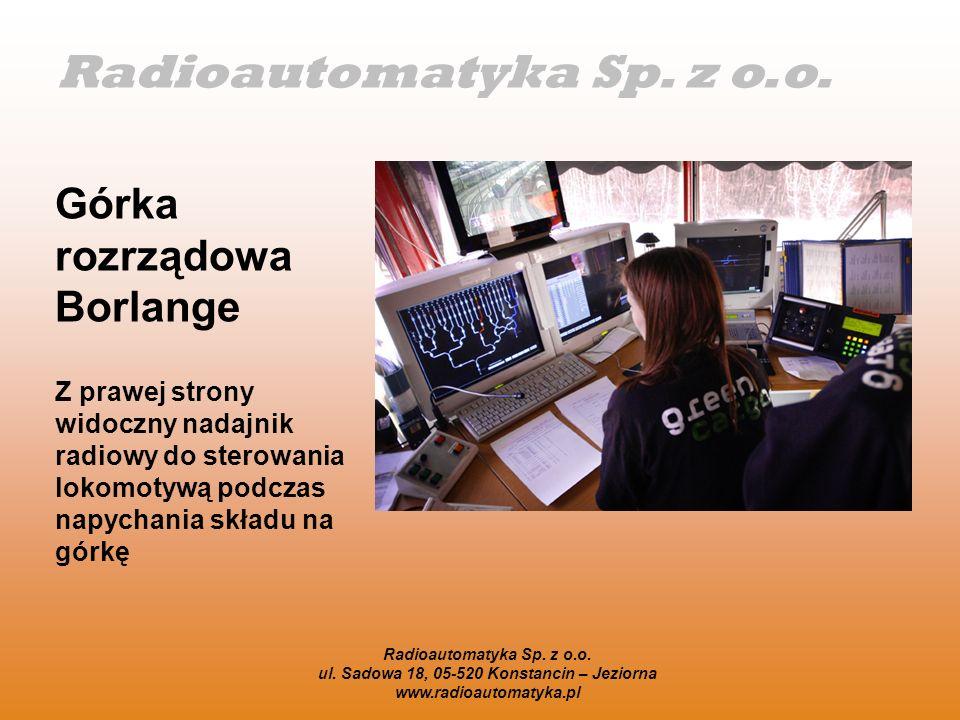 Radioautomatyka Sp. z o.o. ul. Sadowa 18, 05-520 Konstancin – Jeziorna