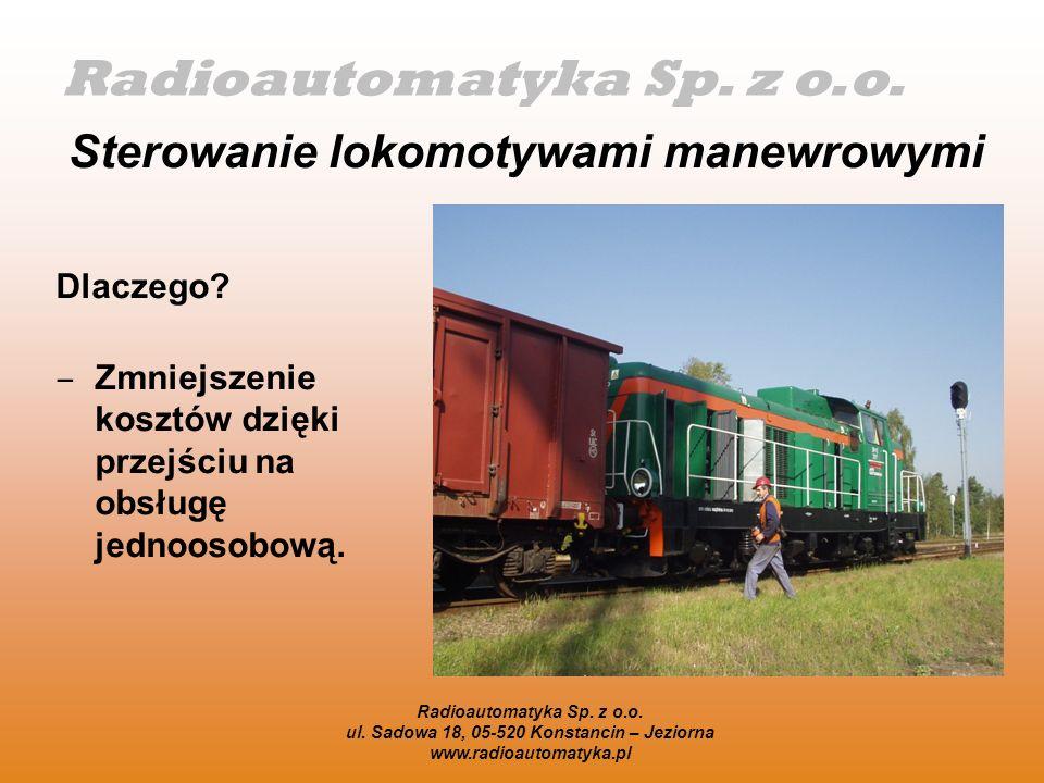 Sterowanie lokomotywami manewrowymi