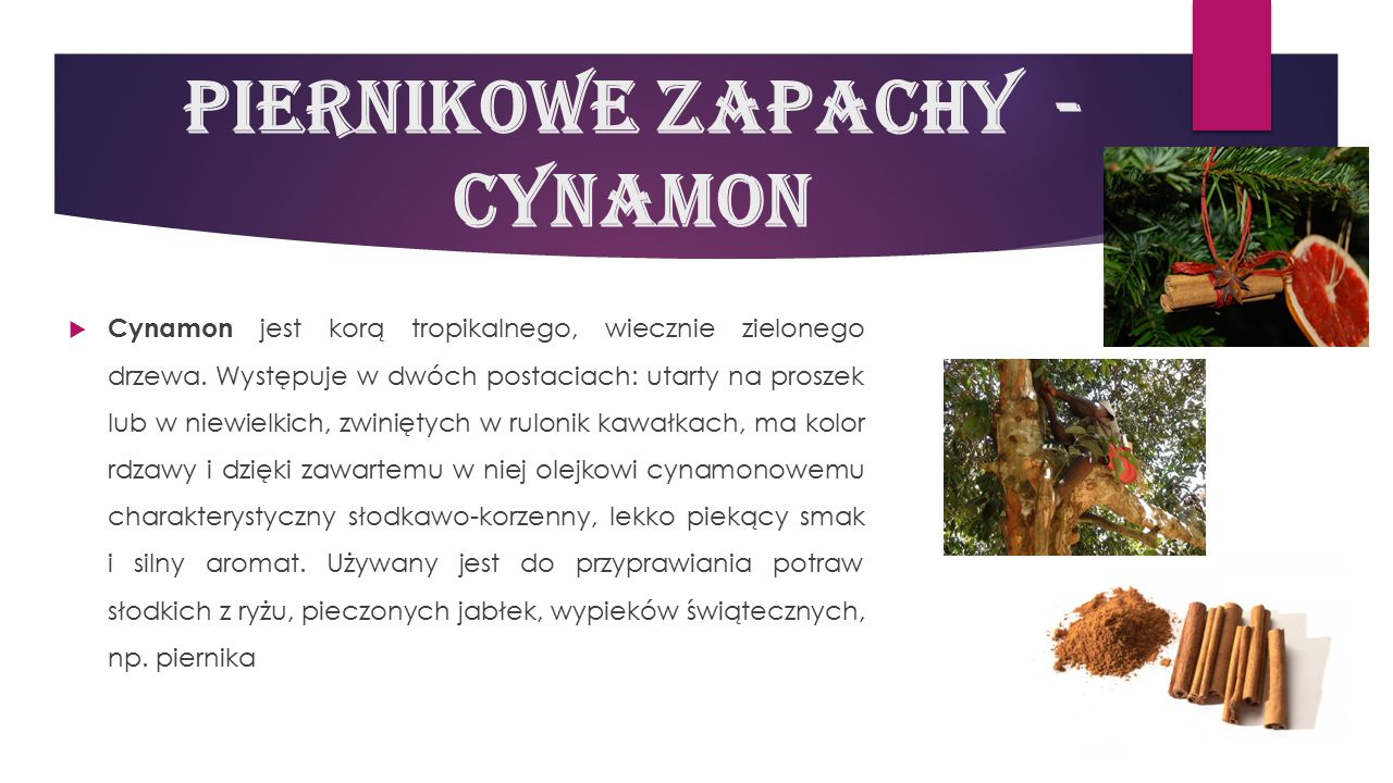 Piernikowe zapachy - cynamon