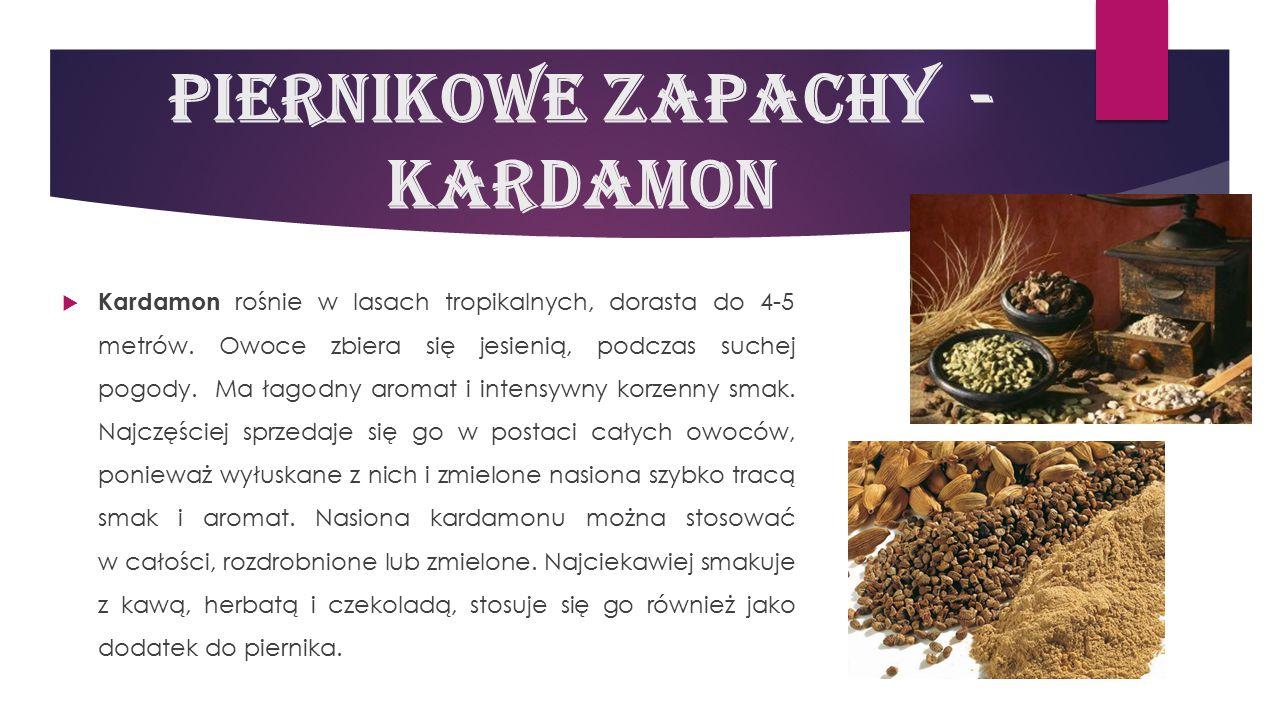 Piernikowe zapachy - kardamon