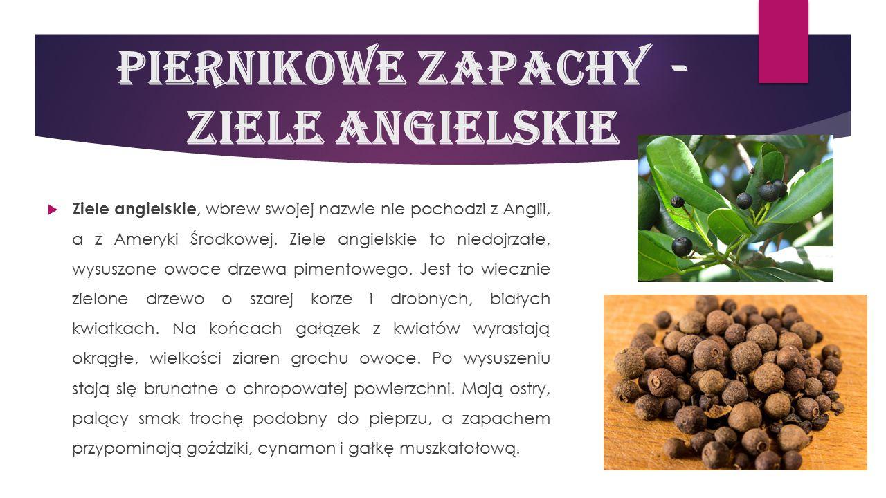 Piernikowe zapachy - ziele angielskie