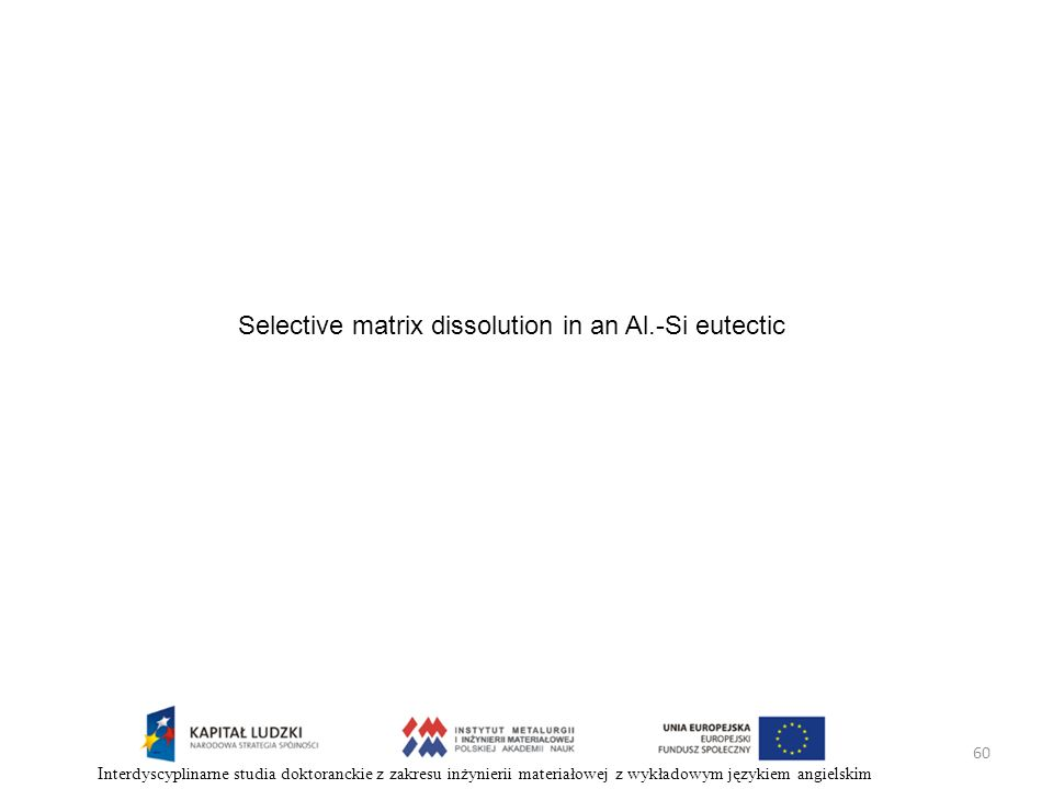 Selective matrix dissolution in an Al.-Si eutectic