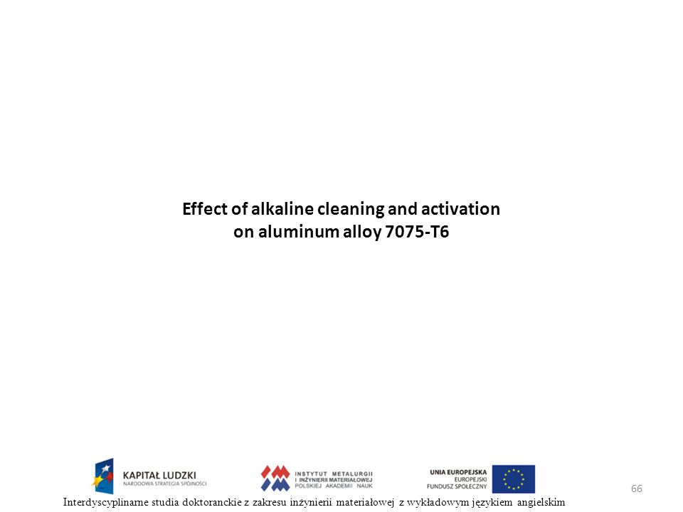 Effect of alkaline cleaning and activation on aluminum alloy 7075-T6