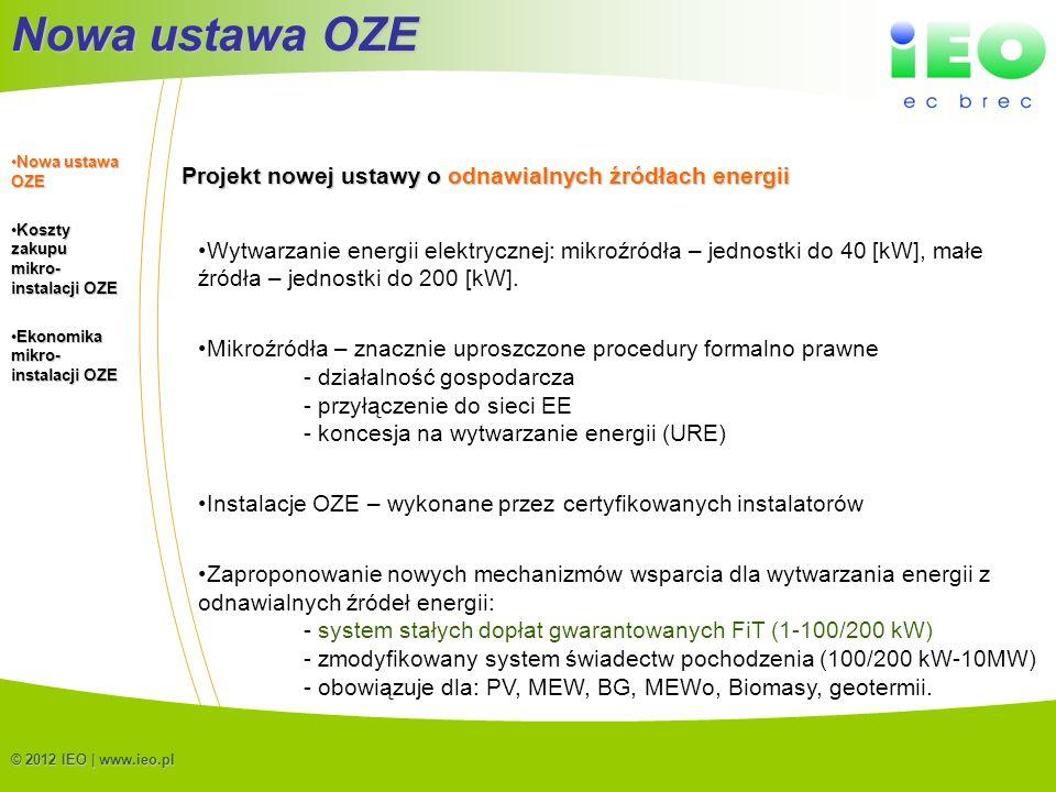 Nowa ustawa OZE Projekt nowej ustawy o odnawialnych źródłach energii