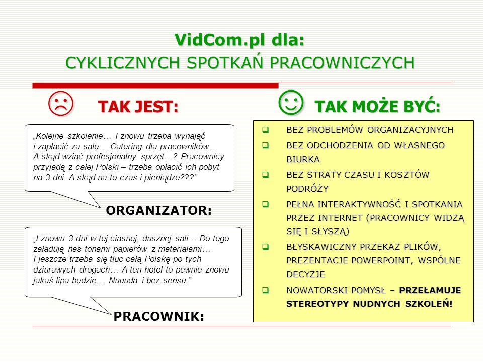 VidCom.pl dla: CYKLICZNYCH SPOTKAŃ PRACOWNICZYCH