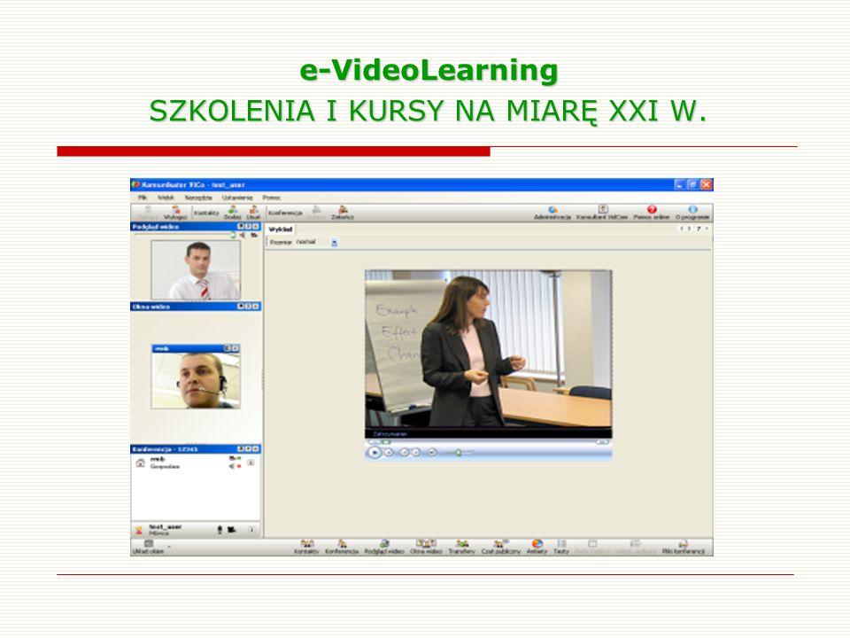 e-VideoLearning SZKOLENIA I KURSY NA MIARĘ XXI W.