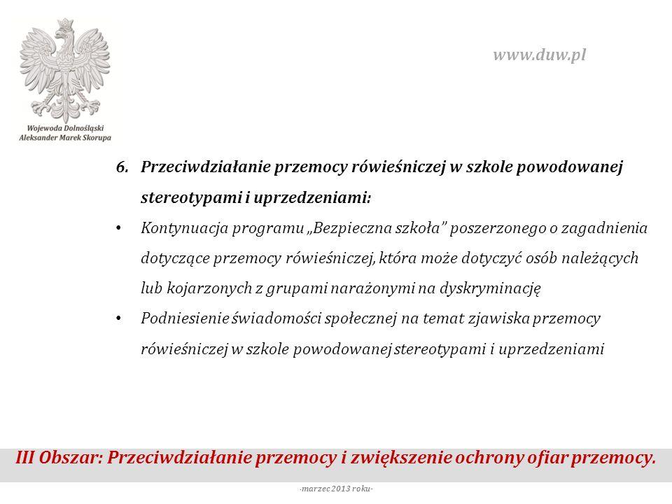 www.duw.pl Przeciwdziałanie przemocy rówieśniczej w szkole powodowanej stereotypami i uprzedzeniami: