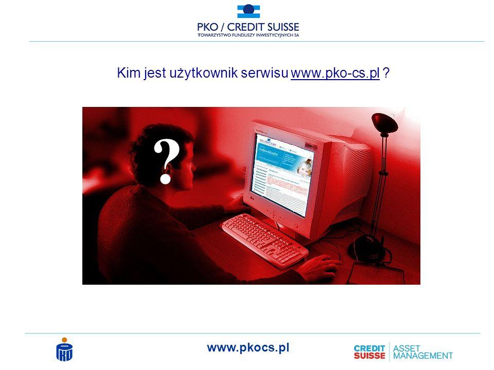 Kim jest użytkownik serwisu www.pko-cs.pl