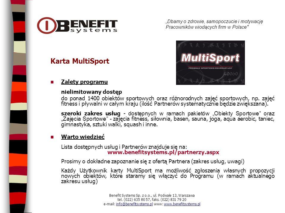 Karta MultiSport Zalety programu nielimitowany dostęp