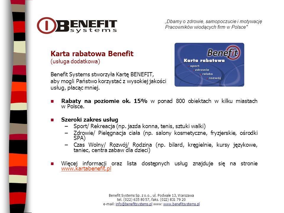 Karta rabatowa Benefit